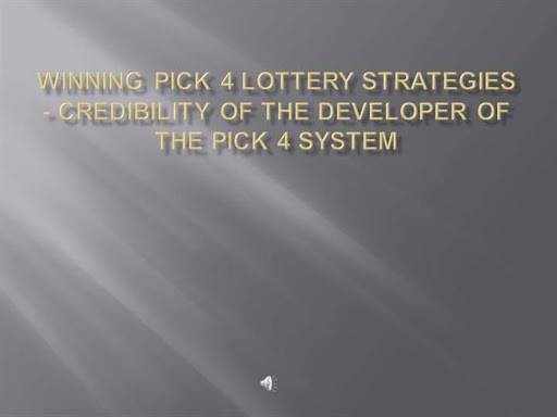 Lottery Pick 4 Strategy Exposed!